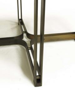 Dunbar Tom Lopinski for Dunbar Bronze Rosewood and Smoked Glass Coffee Table - 267222