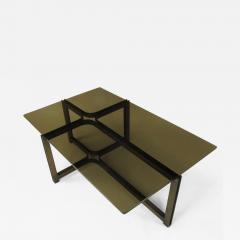 Dunbar Tom Lopinski for Dunbar Bronze Rosewood and Smoked Glass Coffee Table - 383938
