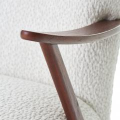 Dux 1950s DUX Walnut High Back Lounge Chair - 1604538