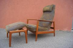 Dux Teak Lounge Chair and Ottoman by Folke Ohlsson for Dux - 893249