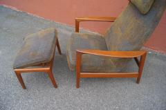 Dux Teak Lounge Chair and Ottoman by Folke Ohlsson for Dux - 893251