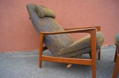 Dux Teak Lounge Chair and Ottoman by Folke Ohlsson for Dux - 893257