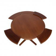 Dyrlund A Dyrlund teak Lotus or Flip Flap dining table 1960s - 1677081