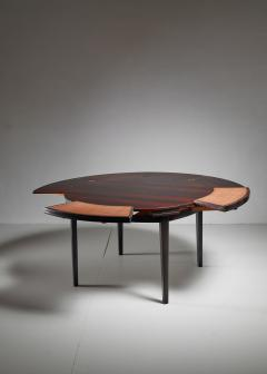 Dyrlund Dyrlund flip flap Lotus dining table Denmark 1960s - 951764