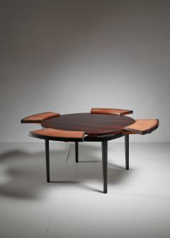 Dyrlund Dyrlund flip flap Lotus dining table Denmark 1960s - 951767