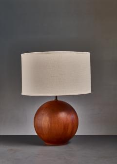 Dyrlund Dyrlund globe shaped wood table lamp Denmark - 813940