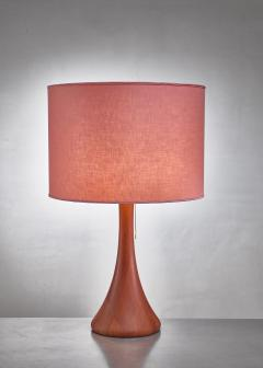 Dyrlund Dyrlund wood table lamp Denmark 1960s - 1115614