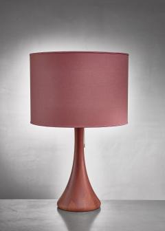 Dyrlund Dyrlund wood table lamp Denmark 1960s - 1115615
