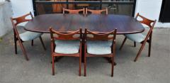 Dyrlund Gorgeous Rosewood 2 Leaf Oval Pedestal Dining Table by Dyrlund - 2093824