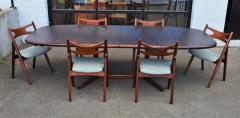 Dyrlund Gorgeous Rosewood 2 Leaf Oval Pedestal Dining Table by Dyrlund - 2093828