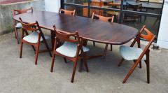 Dyrlund Gorgeous Rosewood 2 Leaf Oval Pedestal Dining Table by Dyrlund - 2093830