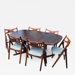 Dyrlund Gorgeous Rosewood 2 Leaf Oval Pedestal Dining Table by Dyrlund - 2094948