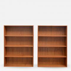 Dyrlund Pair of Minimalistic Hanging Danish Teak Shelving Units by Dyrlund - 876040