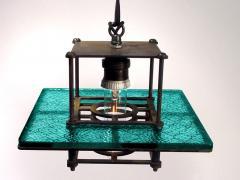 Early Electrics LLC Skeletal Industrial Blue Wire Glass Pendant Lamps - 641604