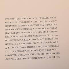 Edition D Art Du Lion Jean Lurcat Zodiaque portfolio - 1105588