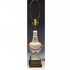 Edme Samson et Cie Antique Samson Porcelain Armorial Crest Urn Form Table Lamps Crawford - 1705576