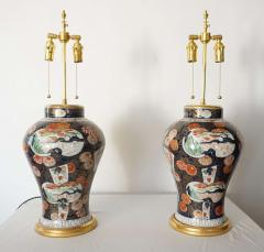 Edme Samson et Cie Pair of Samson Imari Lamps Mallett London - 1405347
