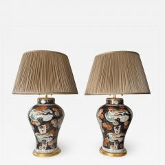 Edme Samson et Cie Pair of Samson Imari Lamps Mallett London - 1405877