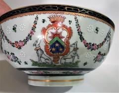 Edme Samson et Cie Samson Porcelain Bowl in the Chinese Export Armorial Taste France Circa 1910 - 2074160