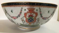 Edme Samson et Cie Samson Porcelain Bowl in the Chinese Export Armorial Taste France Circa 1910 - 2074169