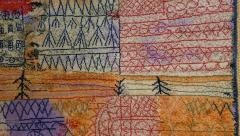 Ege Axminster After Paul Klee 1926 Painting EGE Art Line Rug Denmark 1980s - 2073361