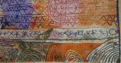 Ege Axminster After Paul Klee 1926 Painting EGE Art Line Rug Denmark 1980s - 2073362