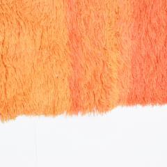 Ege Rya Vibrant Orange Ornamental Rya Rug Tapestry Denmark 1960s Scandinavian Modern - 1909235