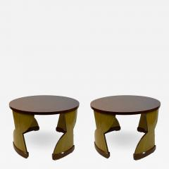 Eillen Gray MODERNIST PAIR OF TABLES IN THE MANNER OF EILEEN GRAY - 1962765