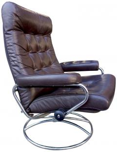 Ekornes Stressless Midcentury Reclining Stressless Lounge Chair And Ottoman  By Ekornes   542748