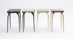 Elan Atelier Jewel Side Table in Ruby Parchment - 1476828