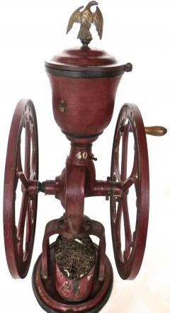 Elgin National Coffee Mill Cast Iron Coffee Grinder Elgin National Coffee Mill American Circa 1900 - 996290