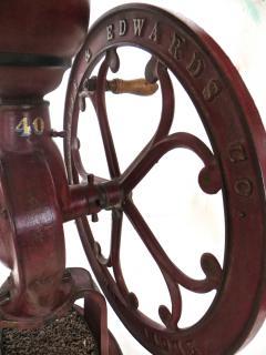 Elgin National Coffee Mill Cast Iron Coffee Grinder Elgin National Coffee Mill American Circa 1900 - 996295