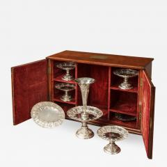 Elkington Co 19th Century English Sheffield Hall Marked Silver Table Service with Case - 620121