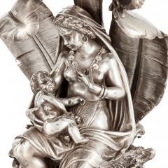 Elkington Co Pair of figural candelabra by Elkington Mason Co - 1577288