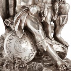 Elkington Co Pair of figural candelabra by Elkington Mason Co - 1577291