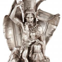 Elkington Co Pair of figural candelabra by Elkington Mason Co - 1577294