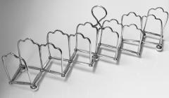Elkington Co Silver Plate Toast rack concertina form English Elkington Co C 1870  - 2022129