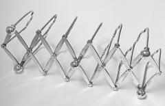 Elkington Co Silver Plate Toast rack concertina form English Elkington Co C 1870  - 2022130