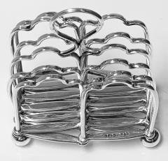 Elkington Co Silver Plate Toast rack concertina form English Elkington Co C 1870  - 2022132