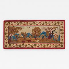 Elliott Grace Snyder Exceptional Yarn Sewn Rug c 1825 - 889154