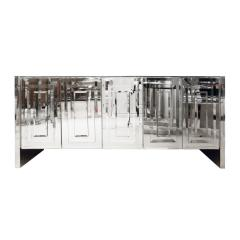 Ello Furniture Co Ello 5 Door Mirrored Credenza 1970s - 1199546