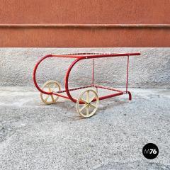 Emu Red metal food cart by Emu 1980s - 2135223