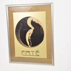 Ert Art Deco L Amour Vintage Poster Style of ERTE Romain de Tirtoff France 1980s - 1837427