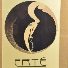 Ert Art Deco L Amour Vintage Poster Style of ERTE Romain de Tirtoff France 1980s - 1837429