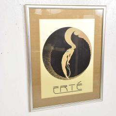 Ert Art Deco L Amour Vintage Poster Style of ERTE Romain de Tirtoff France 1980s - 1837430