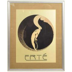 Ert Art Deco L Amour Vintage Poster Style of ERTE Romain de Tirtoff France 1980s - 1837431