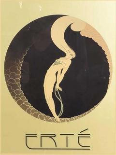 Ert Art Deco L Amour Vintage Poster Style of ERTE Romain de Tirtoff France 1980s - 1838883