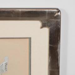 Ert Original Art Deco Gouache on Paper by Erte in White Gold Custom Frame - 1700613