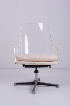Erwine and Estelle Laverne Pair of Swivel Chairs Made of Lucite in Manner of Laverne - 1208996