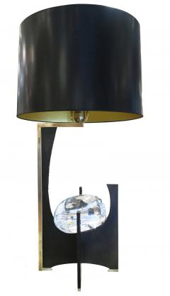 Esperia Galileo Black Iron and Glass Table Lamp by Esperia - 397313
